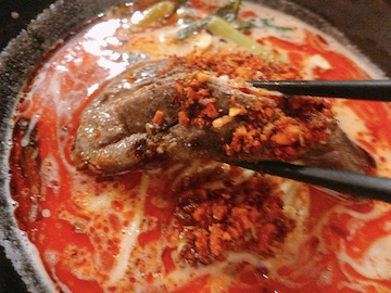 毛沢東担々麺(スペアリブ)