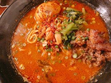 スパイスカレー麺(麺とスープ)