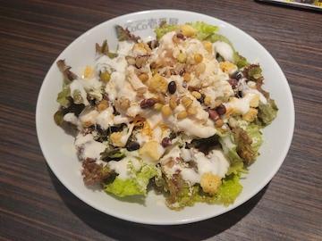 蒸し鶏と雑穀のシーザーサラダ(全体)