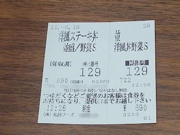 ポークステーキ洋風ガーリック(食券)