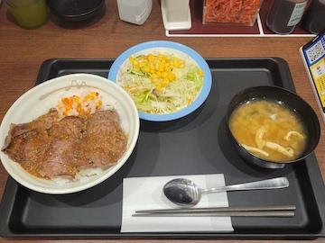 ビーフステーキごま醤油ソース(全体)