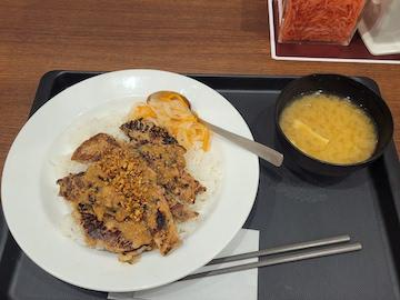 ポークステーキ香味醤油(全体)