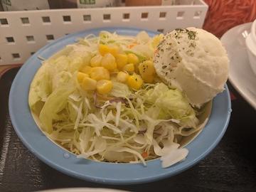 チキンフリカッセ定食(ポテトサラダ)