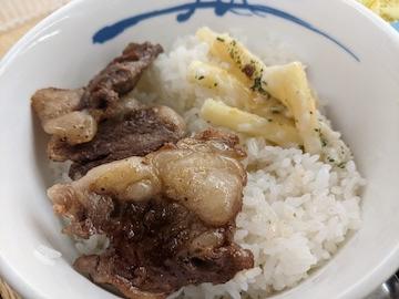 リブロース定食(オンザライス)