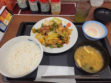 回鍋肉定食(全体)
