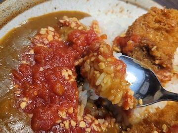 キャベツメンチカツカレー(実食)